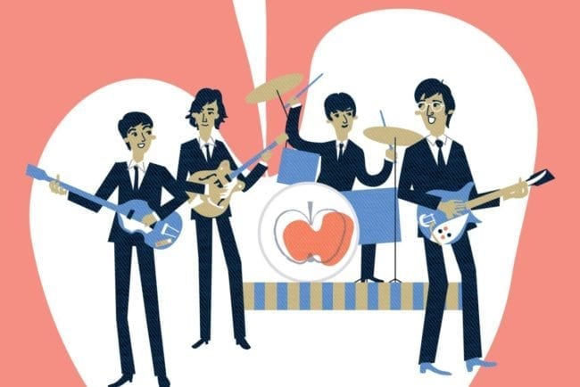 Beatles in Radstadt für den Beatles Film Help