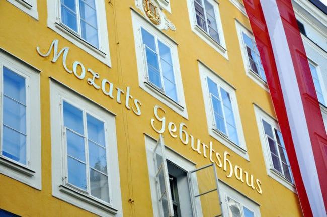 Mozart Geburtshaus, Ausflugsziel in Salzburg